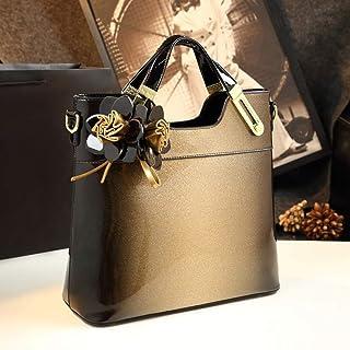 Handbags/Hand Large Bag/Fashion Light Leather/Shoulder Bag Tide Ms. Messenger Bag Paint. jszzz (Color : Yellow)
