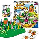 Ravensburger Juegos 20851 Ravensburger – Juego de Mesa para niños y Adultos, 2 – 4 Jugadores, a Partir de 4 años, Incluye Juego de Cartas Lotti Karotti Quartett de edición Especial Amazon