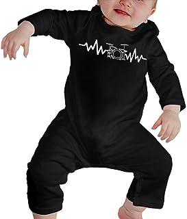 Infant Baby Boy Girl Drum Set Heart Beat-1 Long Sleeve Romper Jumpsuit, Printed Cotton Bodysuit Romper Jumpsuit