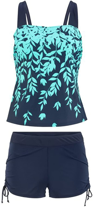 Women Girls Swimsuits Bathing Suit Modest Tankini Top Boyshort Swimwear