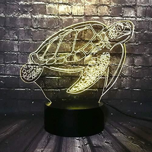 Cadeaus voor moeder 3D-lamp nachtlampje dier zee schildpad zeeschildpad 7 kleuren crack RGB fitting LED nachtlampje decor room baby slaap warm lava vakantie Kerstmis verjaardagscadeau met USB-afstandsbediening