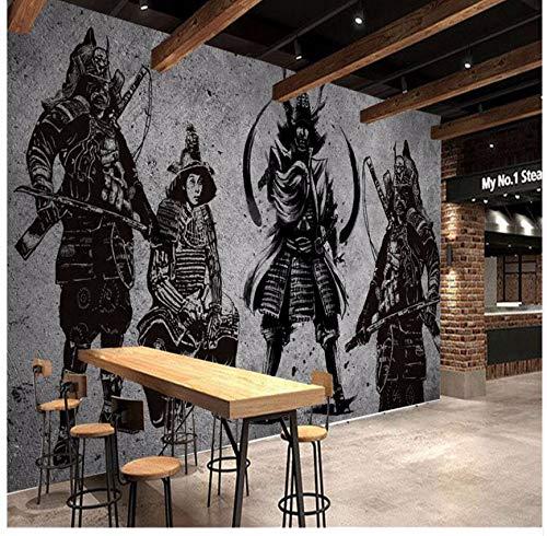 Cczxfcc Grandes Murales Personalizados Vintage Hechos A Mano Japonés Samurai Cemento Paredes Restaurante Japonés Mural Fondo De La Pared-300Cmx210Cm