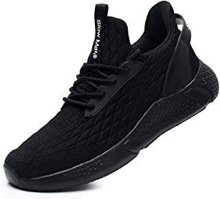 Men's Running Shoes Sock Sneakers - Air Knit Mesh Breathable Sport Shoes Lace-up Comfortable Shock Cushioning Sneakers - fat burning tip