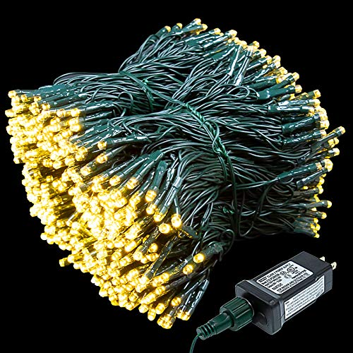 XUNXMAS 800 LED Christmas String Lights Outdoor Indoor, 272FT Super Long Warm White Christmas Lights with 8 Lighting Modes, UL Certified Waterproof Decorative Lights for Christmas Tree Patio Party