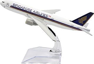 飛行機モデル模型飛行機、1:400飛行機モデル、16cmシンガポール航空b777Metal飛行機モデル、飛行機愛好家、記念品(装飾玩具ギフト)