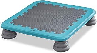 RiZKiZ ジャンピングボード 【ブルー】 65×65cm ボード型トランポリン ジャンプ 室内用 耐荷重100kg ジャンプ バランス感覚 体幹 筋力 トレーニング 静音 安全 フィットネス 子供