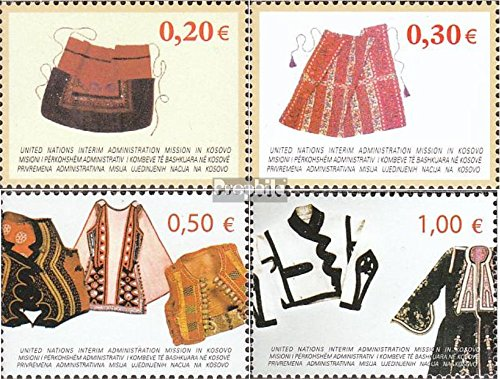 Kosovo (Nations Unies-de Gestion) mer.-no.: 22-25 (complète.Edition.) 2004 Costumes (Timbres pour Les collectionneurs) Uniformes / Costumes
