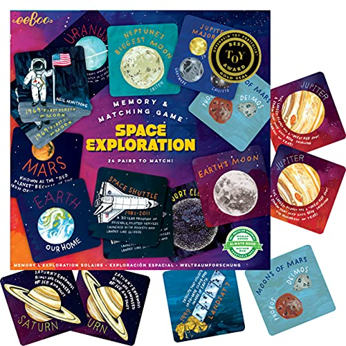 eeBoo's Space Exploration Memory and Matching Game, Multi