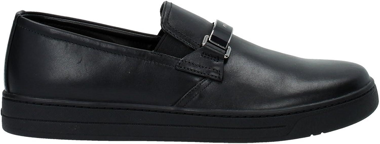 best sneakers fd114 abf9d Prada Herren Leder Slip On Slipper Sneakers Sneakers Sneakers Schwarz  B017FNLXN2 762f8d