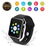 ... Waterproof Smart Wrist Watch Smartwatch Phone Fitness Tracker with SIM SD Card Slot Camera Pedometer Compatible iOS iPhone Android Samsung for Men Women ...