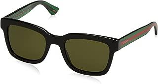 Fashion Sunglasses, 52/21/145, Black / Green / Green