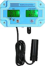 KKmoon Professional 3 en 1 Medidor de pH/EC/TEMP Detector de agua Multi-paramétro Digital LCD Tri-Meter Multifuncional Monitor de calidad del agua Multiparamétro Comprobador de calidad del agua