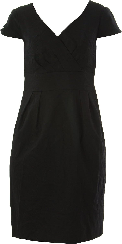 BODEN Women's Wrap Front Wool Dress US Sz 2P Black