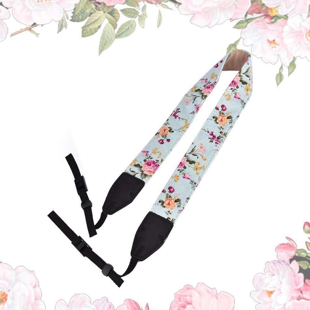 Universal Adjustable Camera Camcorder Shoulder Neck Strap Belt Flower Camera Neck Shoulder Strap Belt for All SLR//DSLR Yuehuam Cameras Shoulder Straps Color : 2
