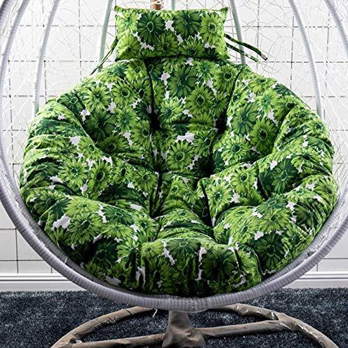 WPW Cojín para Silla Hamaca Papasan Cojines para Columpios Colgantes 105x105cm / 41in ,para Sofá de Canasta Colgante de Columpio Individual para Interiores y Exteriores (Color : Chrysanthemum)