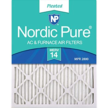 12 Pack Nordic Pure 10x20x1 MERV 14 Pleated AC Furnace Air Filters