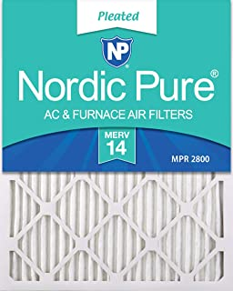 Nordic Pure 16x25x1 MERV 14 Pleated AC Furnace Air Filters, 16x25x1M14-6, 6 Pack