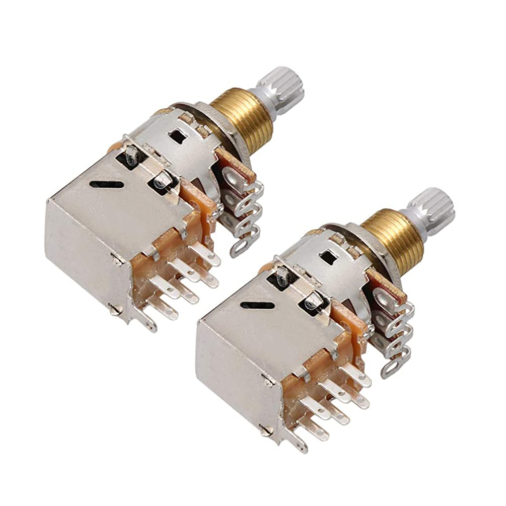 Homeswitch Electric Guitar Switch Knob A500K 18mm Shaft Push Pull Volume Potentiometers Pack of 2