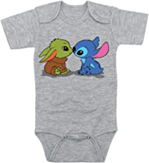TeeNow - Yoda & Stitch Fast Friends! (Multiple-Designs) - Baby Infant Onesie / Bodysuit - Boy / Girl