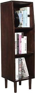 Estante para CD de madera maciza, discos de vinilo Gabinete de almacenamiento de DVD LP de 12 pulgadas, artículos diversos...