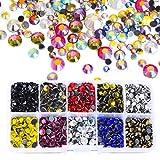 BLINGINBOX 5000 piezas mezcladas de colores/tamaños AB con caja de 10 colores DMC Hot Fix diamantes de imitación de cristal Strss Hotfix para ropa