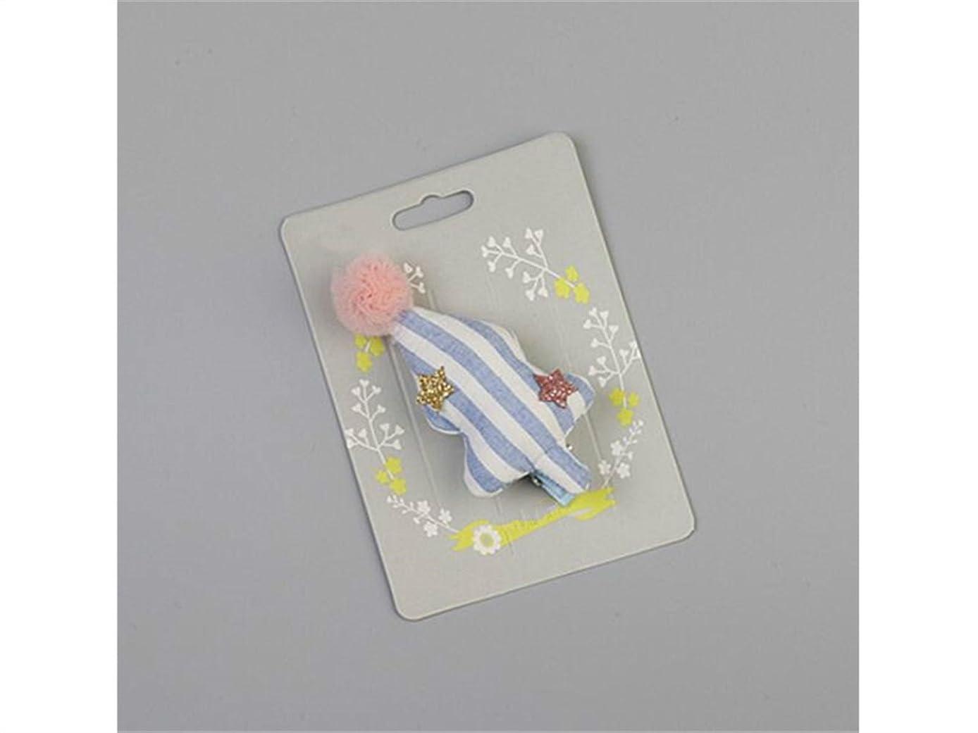 かるアルファベット順台風Osize 美しいスタイル 子供の三次元木の生地のレースボールの子供のヘアピンヘアアクセサリー(ブルー)