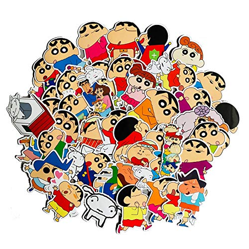 Crayon Shin-Chan Sticker Luggage Suitcase Laptop Water Cup Tablet iPad Mobile Shell Sticker 50PCS