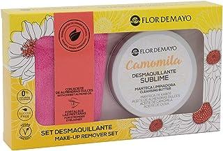 comprar comparacion Set Crema Desmaquillante Ojos y Cara de Camomila, Manteca de Karité, Aceite de Oliva y de Almendras Dulces 90ml y Manopla ...
