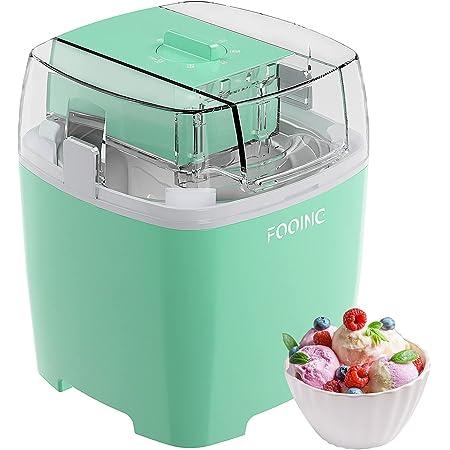 Machine à Glace 1.5L avec Bouton de Commutateur Rotatif Sorbetières à La Maison en Acier Inoxydable, Fabricants de Glacée Convient au Sorbet, au Yaourt Congelé et à la Crème Glacée