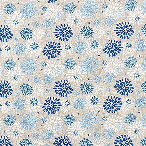 Dekostoff Canvas Blumen – blau/weiss — Meterware ab 0,5m — STANDARD 100 by OEKO-TEX® Produktklasse I — zum Nähen von Kissen/Tagesdecken, Tischläufer & Homeaccessoires