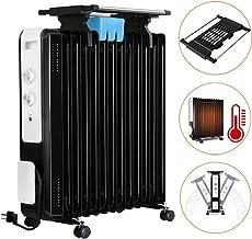 ZDYLM-Y Radiador de Aceite portátil, Calentador de Interior Personal, termostato Digital, un vuelco y la protección contra el sobrecalentamiento