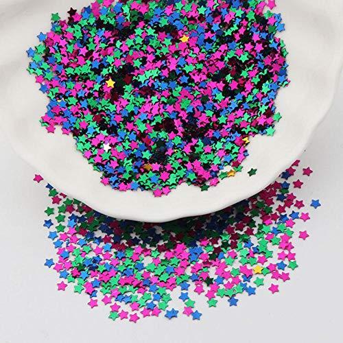 4mm mini ster glitter pailletten nail art pailletten handleiding vijfpuntspilletten losse paillette manicure nagelsticker 20g, roze blauw groen