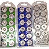 Bluedot Trading LED Battery Operated Submersible Tea Lights, Blue/White/Green, 36-Pack