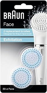 غيار فرشاة براون فيس للتقشير القياسية فرشاة تنظيف الوجه - حزمة ثنائية - Braun face 80-e