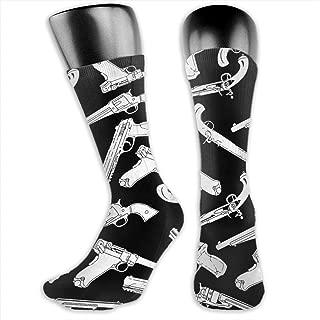 Unisex 3D Socks Military Gun Pattern Adult One Size Crazy Tube Funny Novelty Cotton Socks