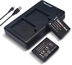 Newmowa Li-90B Battery (2 Pack) and Dual USB Charger Kit for Olympus Li-90B, Li-92B and Olympus SH-1, SH-50 iHS, SH-60, SP-100, Tough TG-1 iHS, TG-2 iHS, TG-3, TG-5, and for Ricoh GR III, WG-6