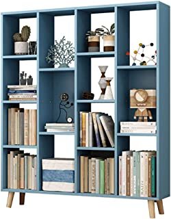Strong Sturdy Solid wood Open shelf Bookshelf,Floor-standing Simple Multifunctional Storage cabinet Easy assembly Freestan...