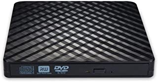 External DVD CD Drive, USB 3.0 Portable DVD/CD Drive Ultra-Thin DVD/CD ROM Burner Compatible with Laptops Burner Supports Computer Operating System Windows or Mac-Black