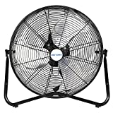 """BILT HARD 20"""" 3-Speed High Velocity Floor Fan, 5200 CFM, Heavy Duty Metal Fan with Wall-Mounting System, Industrial Shop Fan for Commercial, Residential, and Greenhouse"""