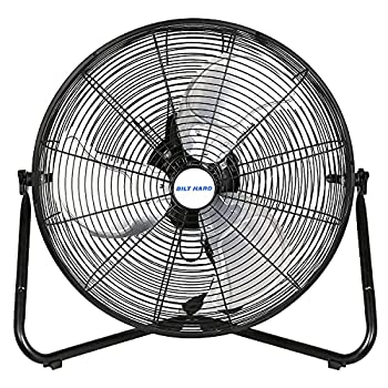 BILT HARD 20  3-Speed High Velocity Floor Fan 5200 CFM Heavy Duty Metal Fan with Wall-Mounting System Industrial Shop Fan for Commercial Residential and Greenhouse