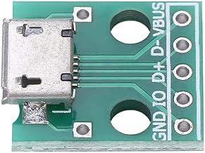 Akozon 10 Unids Micro USB Hembra para Adaptador DIP Placa de 5 Pin 2.54mm Paso para DIY fuente de alimentación USB/diseño tablero