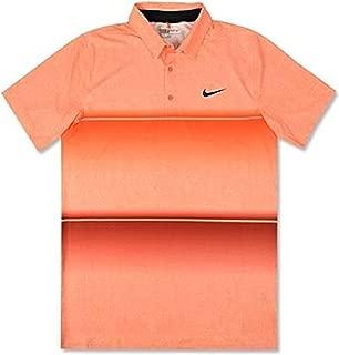 NIKE Mobility Stripe Polo Team Orange 2XL