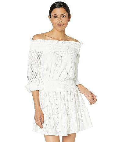 MICHAEL Michael Kors Eyelet Off-the-Shoulder Mini Dress