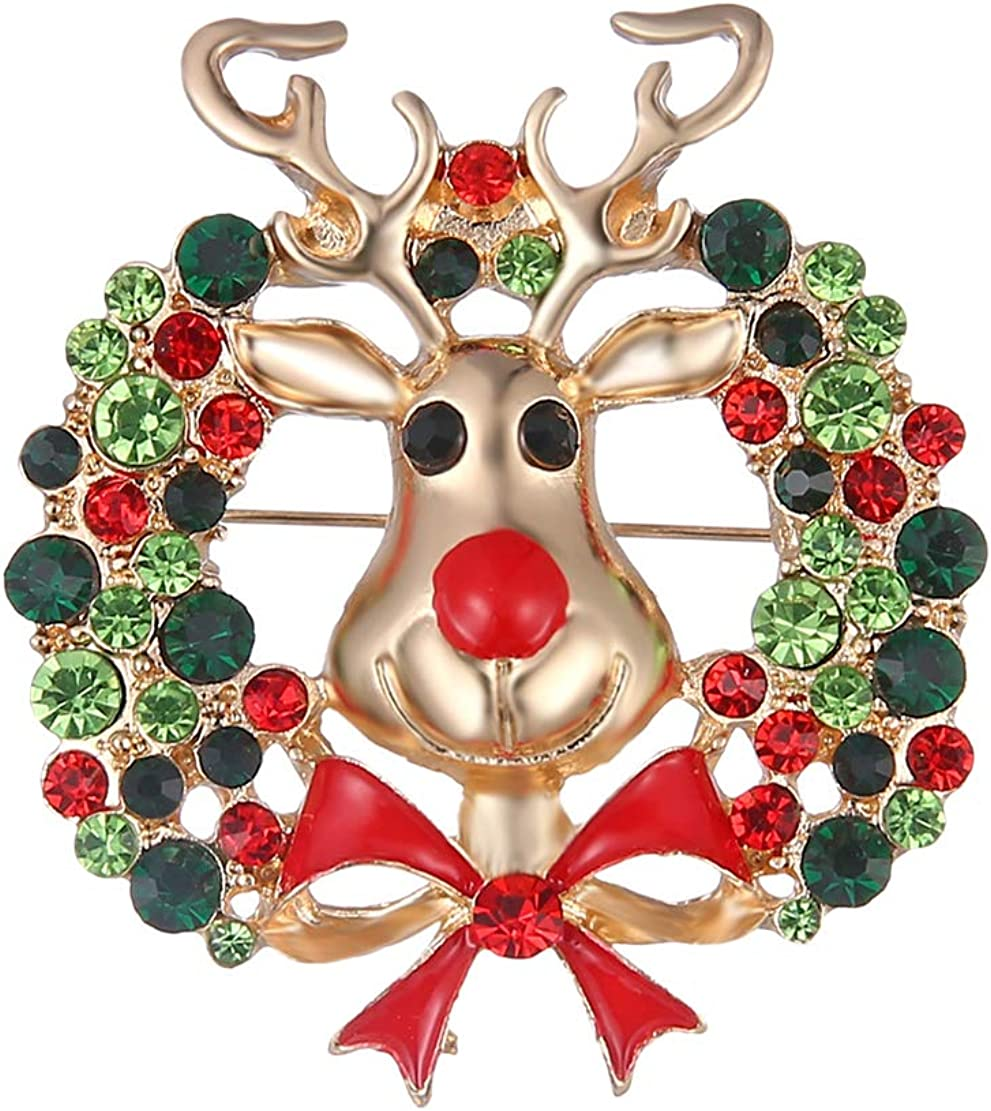 Fiona Jolin Cartoon Christmas Reindeer Brooch Flower Today's only Pin NEW