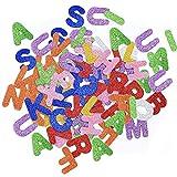 4 juegos de pegatinas de espuma con purpurina para letras autoadhesivas para manualidades, suministros de felicitación, varios colores