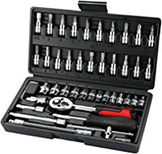 KKmoon 46pcs Steel Socket Wrench Tool Set Car Repair Toolbox Automobile and Motorcycle Tools