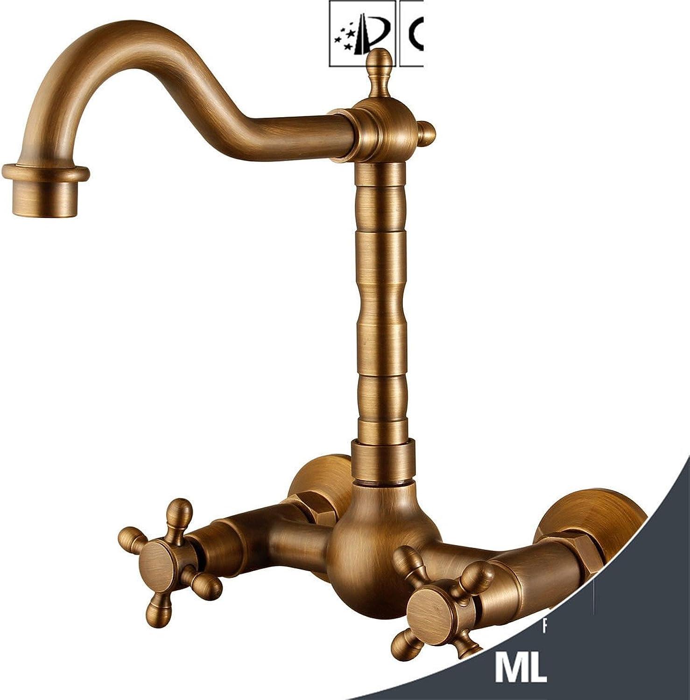 Lvsede Bad Wasserhahn Design Küchenarmatur Niederdruck Wand-Waschtisch-Mischbatterie Aus Messing Für Warm- Und Kaltwasser G2282