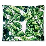 PPOU 3D Planta Verde impresión Yoga Mat Pared Arte Tapiz decoración del hogar sofá Manta Tapiz de Tela de Fondo A1 73x95cm