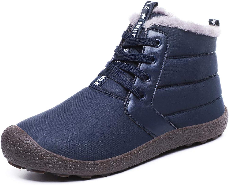 YQSL herr Snow stövlar stövlar stövlar Winter Watersecort skor Warm Ankle Booslipss Slip -on Winter skor  100% autentisk