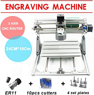 Mini enrutador Máquina de grabado 2418 CNC PCB Grabador láser USB 3 ejes Fresadora cortadora de